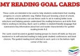Reading Goal Cards Levels A-Z
