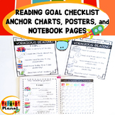 Reading Goal Checklist Anchor Charts   Posters   Reading Goal Sheet