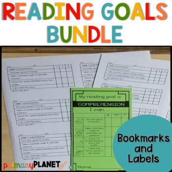 Reading Goal Checklist Bundle : Bookmarks and Labels