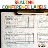 Reading Goal Checklist Conference Labels