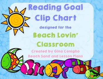 Reading Goal Clip Chart for the Beach Lovin' Classroom