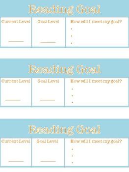 Reading Goal Desk Strip