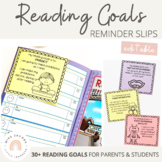 Reading Goals - Reminder Slips