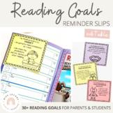 Reading Goals - Reminder Slips   Editable