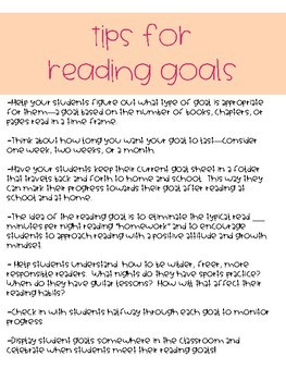Reading Goal Setting