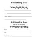 Reading Goal Sheet Grades 3-5