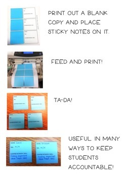Reading Goal Sticky Note Freebie