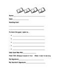 Reading Goal Template for Grade One