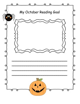 Reading Goal Templates for Entire Year