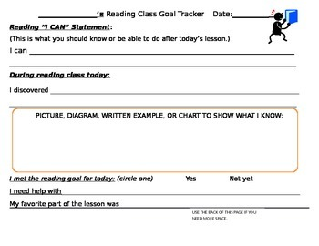 Reading Goal-Tracker for Reading Workshop