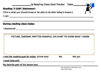 Reading Goal-Tracker for Reading Workshop