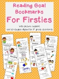 Reading Goal and Strategy Bookmarks for Firsties