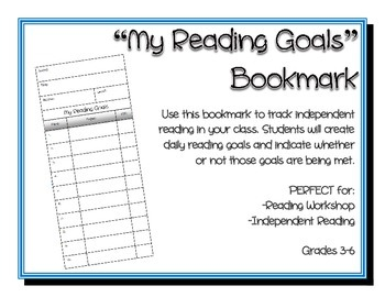 Reading Goals Bookmark