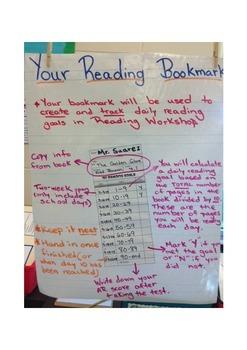 Reading Goals Bookmark Anchor Chart