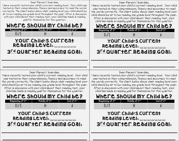 Reading Goals Bookmarks and Communication Cards Bundle