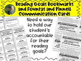 Reading Goals Bookmarks and Communication Cards Bundle