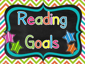 Reading Goals Chart with Editable Pages. by AMC | TpT