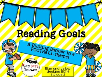 Reading Goals Football Bunting