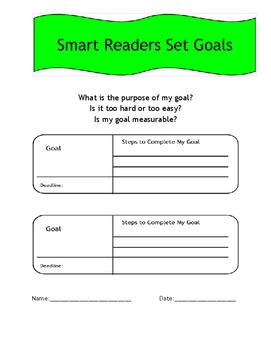 Reading Goals - Graphic Organizer