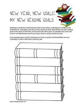 Reading Goals Graphic Organizer