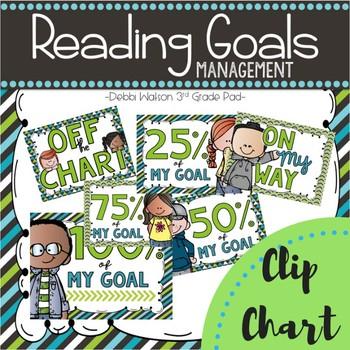 Reading Goals Management  |Clip Chart | Binder | Brag Tags