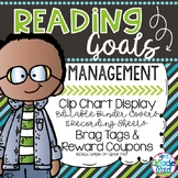 Reading Goals Management  |Clip Chart | Binder | Brag Tags