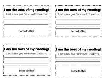 Reading Goals Mini-Book