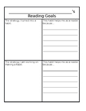 Reading Goals Self Reflection Sheet