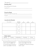 Reading Goals Sheet and Read Aloud Planning Sheet for Students
