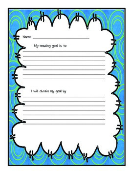 Reading Goal Sheets Spring Themed Paper
