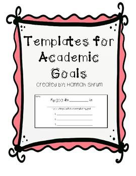 Academic Goals Templates