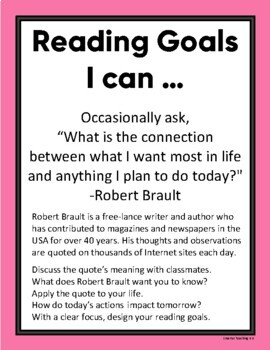 Student Self-Selected Reading Goals: I CAN...