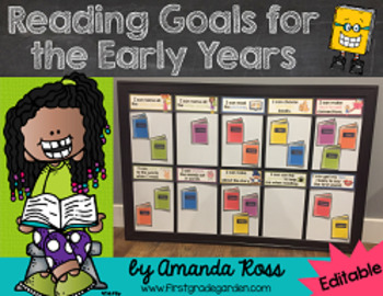 Reading Goals for the Early Years {Editable!}