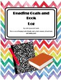 Reading Goals worksheet and Book Log