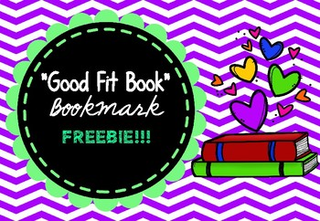 """Reading - """"Good Fit Books"""" Bookmark"""
