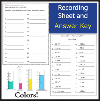 Reading Graduated Cylinders Task Cards