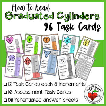 Reading Graduated Cylinders with Different Scales - Task Cards