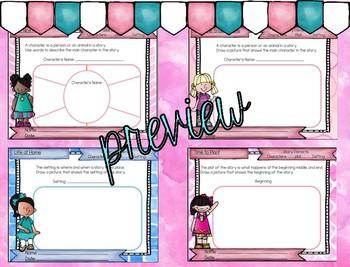 Reading Graphic Organizers: First Grade Reading Wonders Unit 3 Bundle