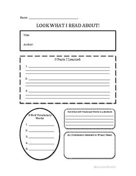 Reading Graphic Organizer