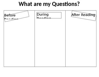 Reading Graphic Organizer