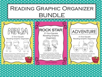 Reading Graphic Organizer Bundle {3 products - Adventure,