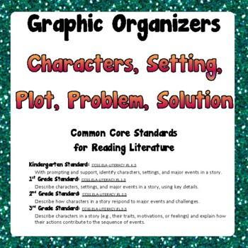 Reading Graphic Organizer - Common Core Standard 1.RL.3 1st Grade