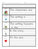 Reading Graphic Organizer - Common Core Standards 1.RL.1 &