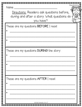 Reading Graphic Organizers