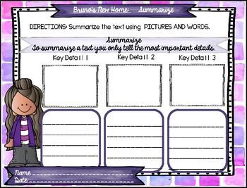 Reading Graphic Organizers: 3rd Grade - Reading Wonders (U 1 W 1)