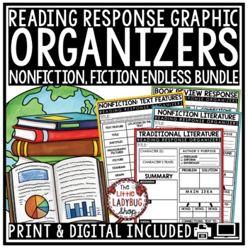 Reading Graphic Organizers and Reading Response Sheets 3rd Grade, 4th, 5th