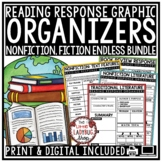 Reading Graphic Organizers & Reading Response Worksheets- Book Review Templates