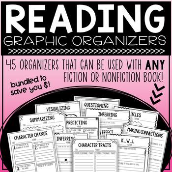 Reading Graphic Organizers BUNDLE - ANY nonfiction or fiction book!