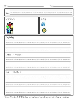 Reading Graphic Organizers Bundle - Characters, Setting, Plot, Who, Where, When