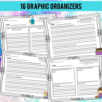 Reading Graphic Organizers (Aligned with Common Core)